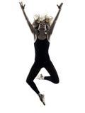 Isolerad kontur för ballerinadansaredans kvinna arkivbild