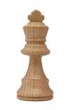 isolerad konungwhite för bakgrund schack Royaltyfri Foto
