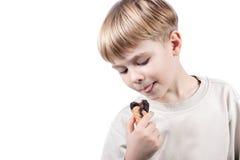 isolerad kräm- is för pojke Fotografering för Bildbyråer