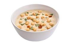 Isolerad kräm- soup Arkivfoto