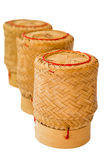 Isolerad kruka för klibbiga ris royaltyfri bild