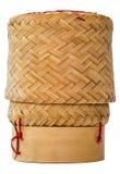 Isolerad kruka för klibbiga ris royaltyfria foton