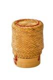Isolerad kruka för klibbiga ris Arkivbild