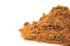 isolerad krydda för bakgrundsclose curry upp Arkivbild