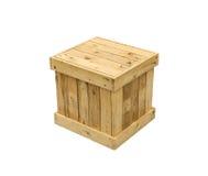 Isolerad kub för sändnings för träaskexportpalett arkivfoton