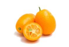 isolerad kumquat arkivbilder