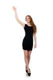 Isolerad kvinna i modebegrepp Royaltyfria Foton