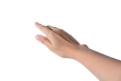 Isolerad kvinnlig hand Royaltyfri Fotografi