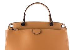 Isolerad kvinnlig handväska Royaltyfri Fotografi