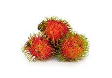 Isolerad läcker frukt för Rambutan sött arkivfoto