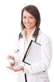 isolerad läkarundersökning för doktor drog royaltyfria foton