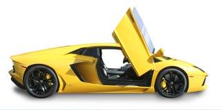 Isolerad Lamborgini Aventador supercar arkivbild