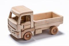 Isolerad lastbil & x28; lorry& x29; leksak på vit bakgrund royaltyfri bild