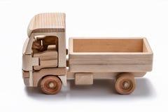Isolerad lastbil & x28; lorry& x29; leksak på vit bakgrund royaltyfri foto