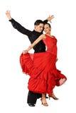 isolerad latinowhite för uppgift dansare royaltyfri bild