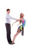 isolerad latinowhite för uppgift dansare Royaltyfri Fotografi