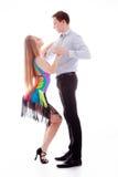 isolerad latinowhite för uppgift dansare Royaltyfria Bilder