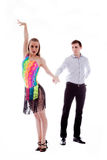 isolerad latinowhite för uppgift dansare Arkivbilder