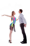 isolerad latinowhite för uppgift dansare Arkivfoton