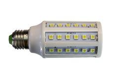 Isolerad LEDD lampa på en vit bakgrund med den snabba banan Arkivbilder