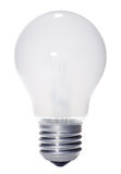 isolerad lightbulbwhite Royaltyfri Bild