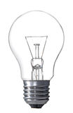 isolerad lightbulbwhite Royaltyfria Foton