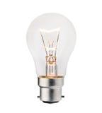 isolerad lightbulbwhite för bajonett montering royaltyfri foto