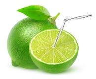 Isolerad limefruktfruktsaft Arkivbild