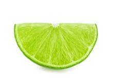 isolerad limefruktskiva Arkivfoton