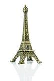 Isolerad liten Eiffeltorn Arkivbild