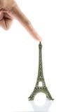 Isolerad liten Eiffeltorn Arkivfoton