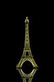 Isolerad liten Eiffeltorn Arkivbilder