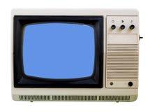 isolerad liten tv för gammal set Arkivbild