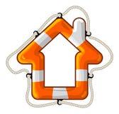 Isolerad livboj för hus vektor Arkivfoto