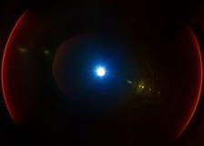 Isolerad ljus linssignalljusläcka Arkivfoto