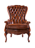 isolerad lyxig banawhite för stol clipping royaltyfria foton