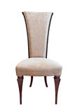 isolerad lyxig banawhite för stol clipping arkivfoto