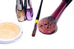 isolerad makeupwhite arkivbilder