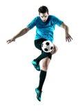 Isolerad man för fotbollspelare Arkivbild