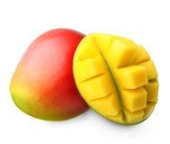 Isolerad mangofrukt Arkivbilder