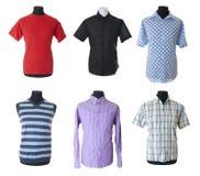 isolerad manlig för 5 kläder samling Arkivbild