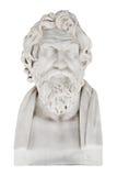 Isolerad marmorbyst av Antisthens - grekisk filosof Royaltyfri Foto