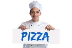 Isolerad matlagning för pizzamatkock royaltyfria bilder