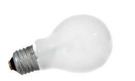 isolerad matte white för lampa Arkivfoto