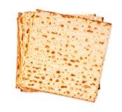 isolerad matzoh (judiskt påskhögtidbröd) Royaltyfri Foto