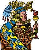 Isolerad Mayan krigare Royaltyfri Fotografi
