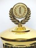 isolerad medaljtrofé royaltyfri bild