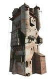 isolerad medeltida trollkarl för s-tornversion Royaltyfri Fotografi