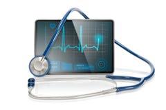 isolerad medicinsk tablet Arkivfoton