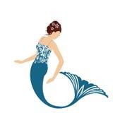isolerad mermaid Royaltyfria Foton